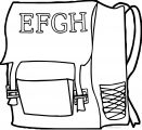 Some School Bag Coloring Page