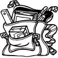 They School Bag Coloring Page