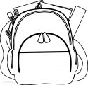 Up School Bag Coloring Page