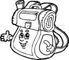 Were School Bag Coloring Page