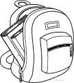 Word School Bag Coloring Page
