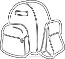 You School Bag Coloring Page