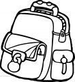 Your School Bag Coloring Page