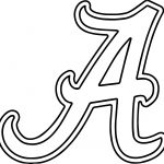 alabama clipart university of alabama a text coloring page
