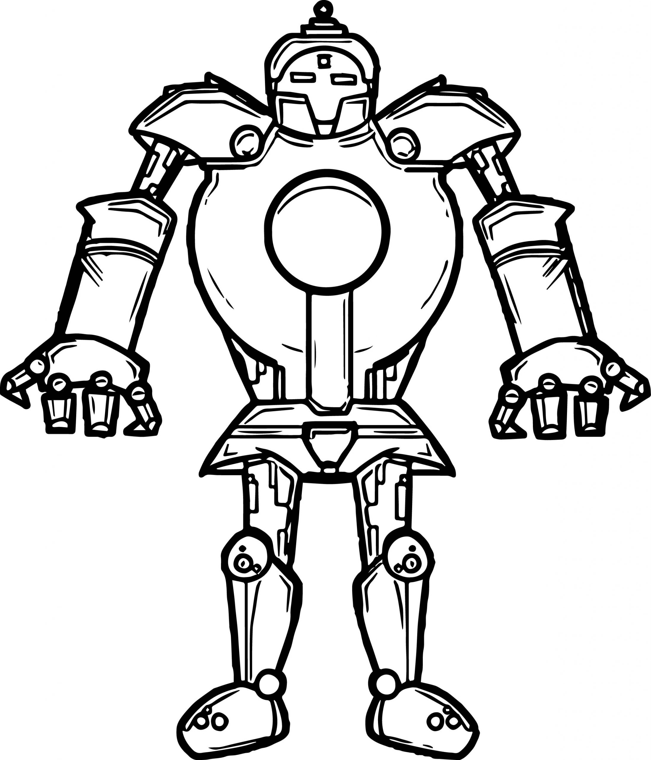 Iron Robot Coloring Page