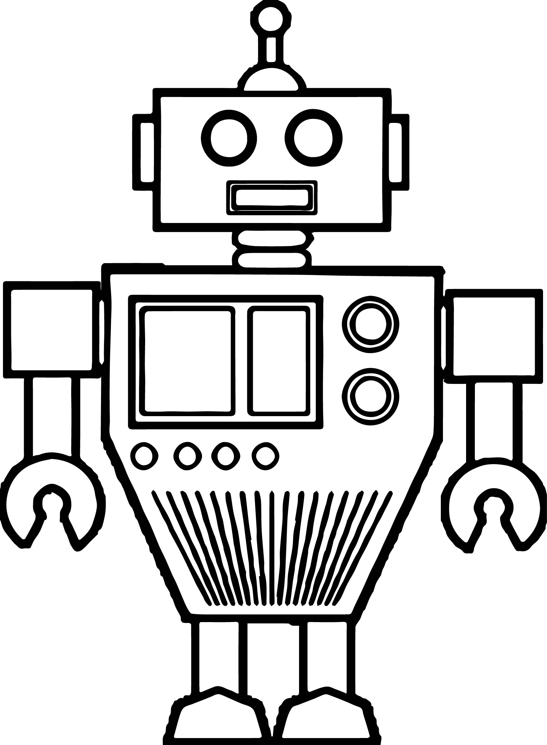 Just Robot Coloring Page