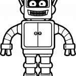 Mine Robot Coloring Page
