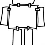 Paper Robot Coloring Page