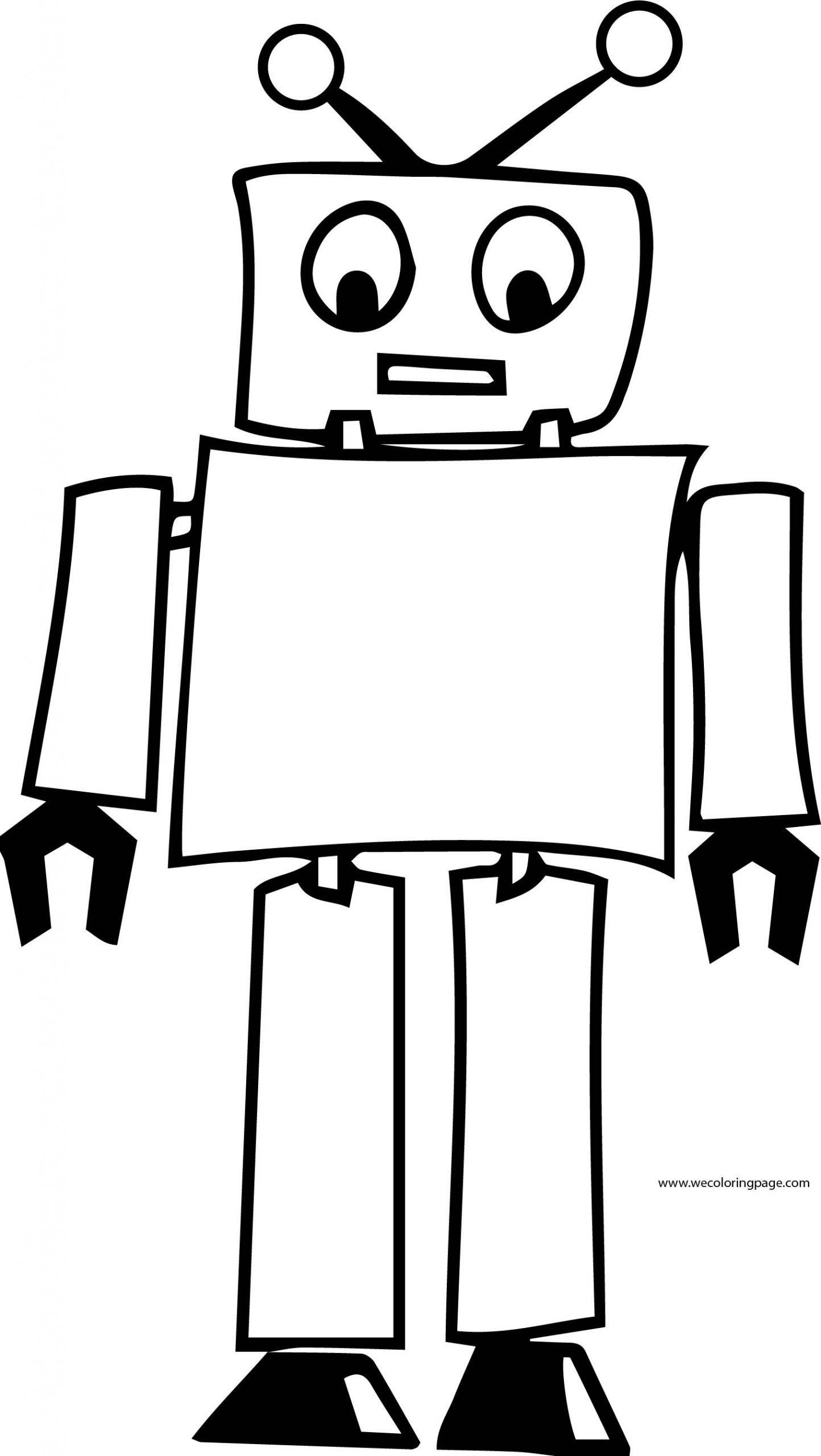 Robot Coloring Page WeColoringPage 35