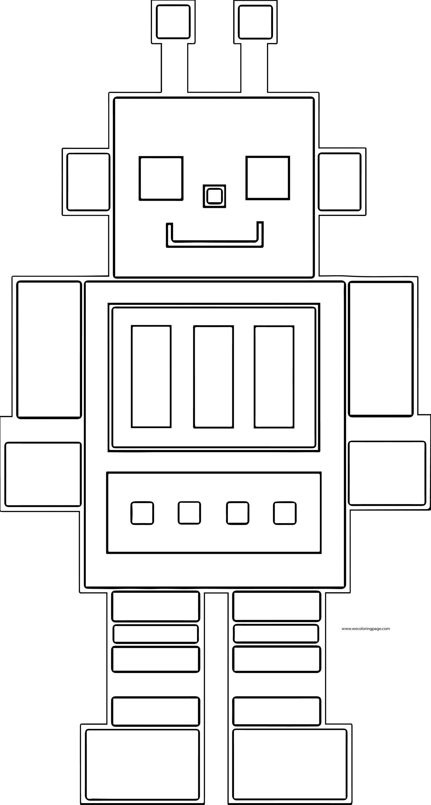 Robot Coloring Page WeColoringPage 73