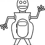 Robot Dance Coloring Page