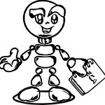 Robot Paper Coloring Page