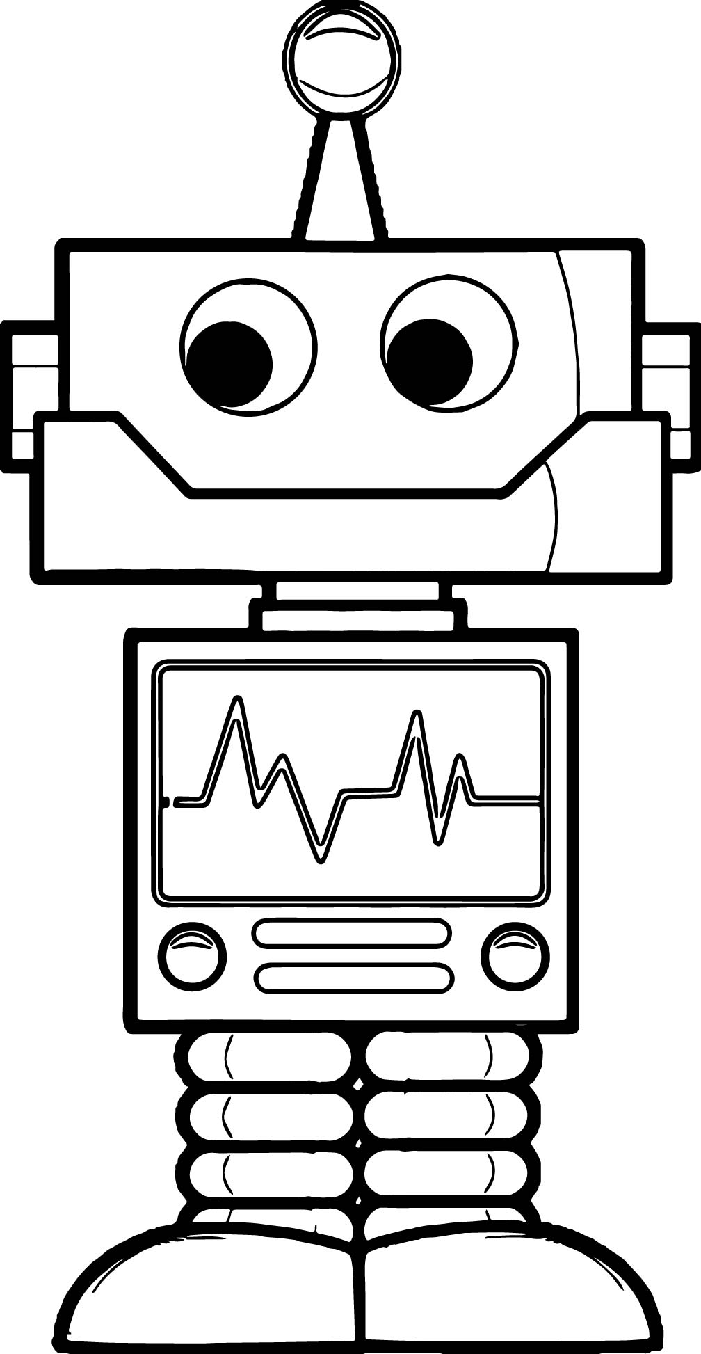 Robot Setting Coloring Page