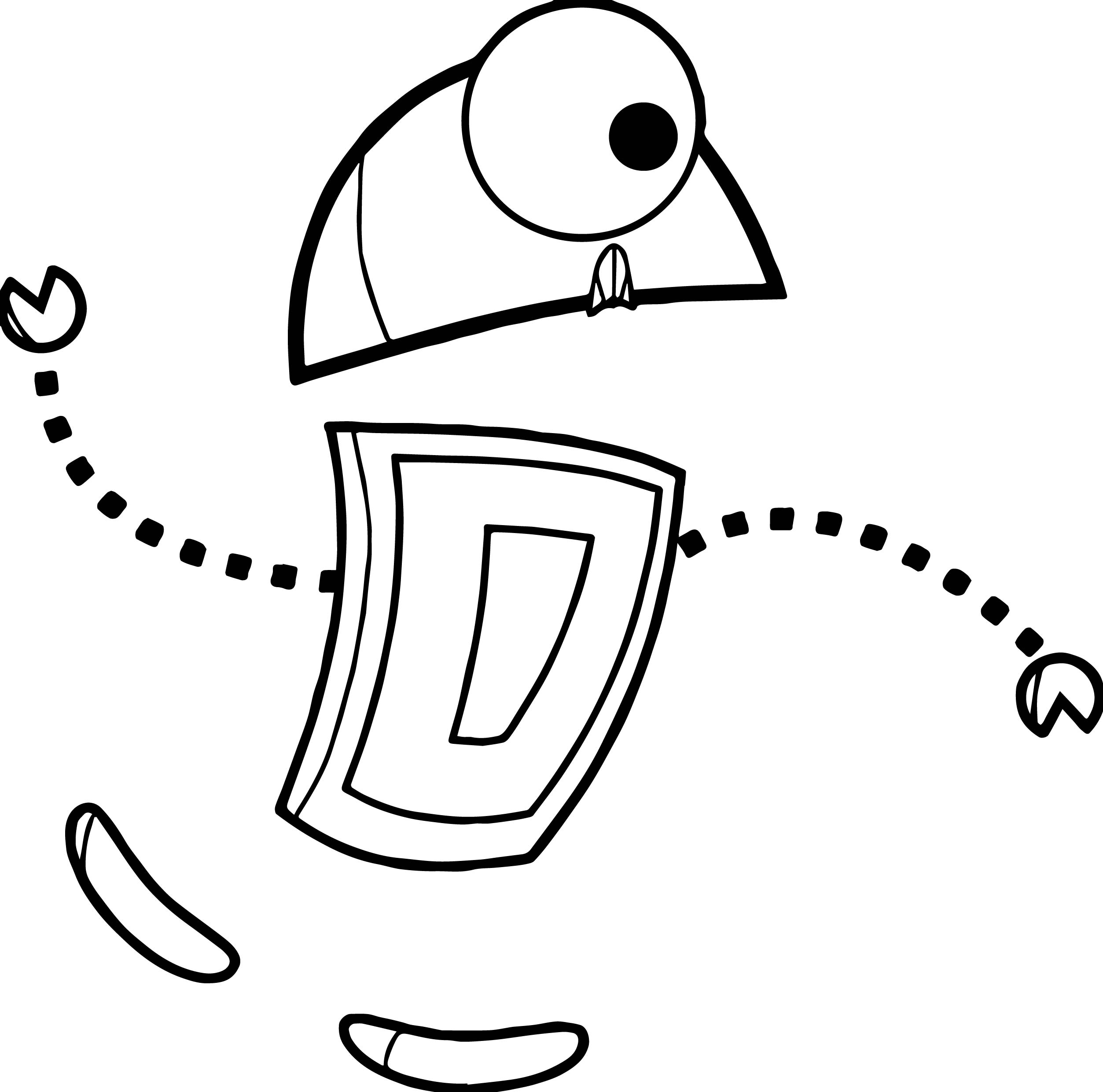Robot Slide Coloring Page