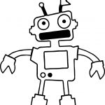 Robot Two Hand Coloring Page