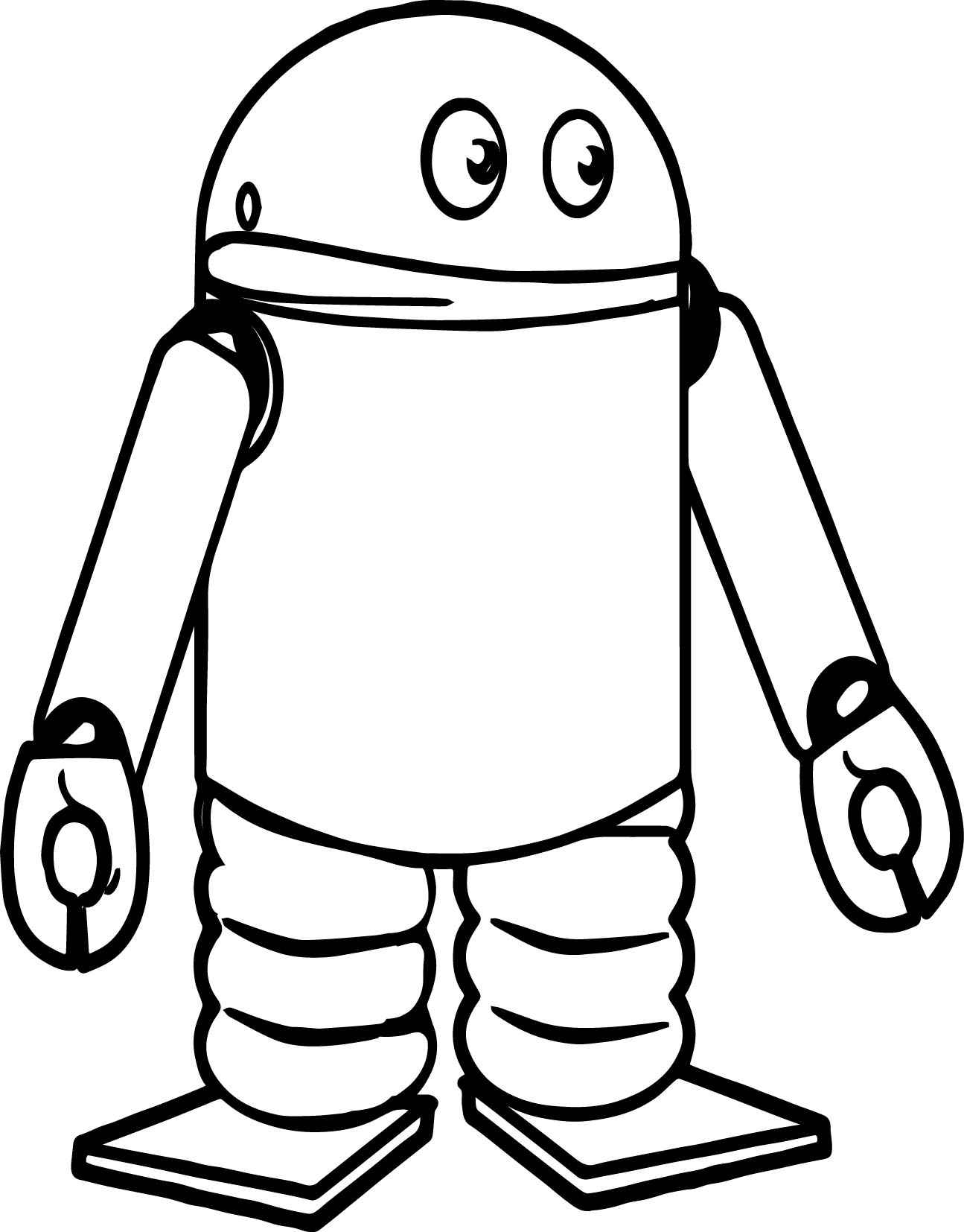 Spring Robot Coloring Page