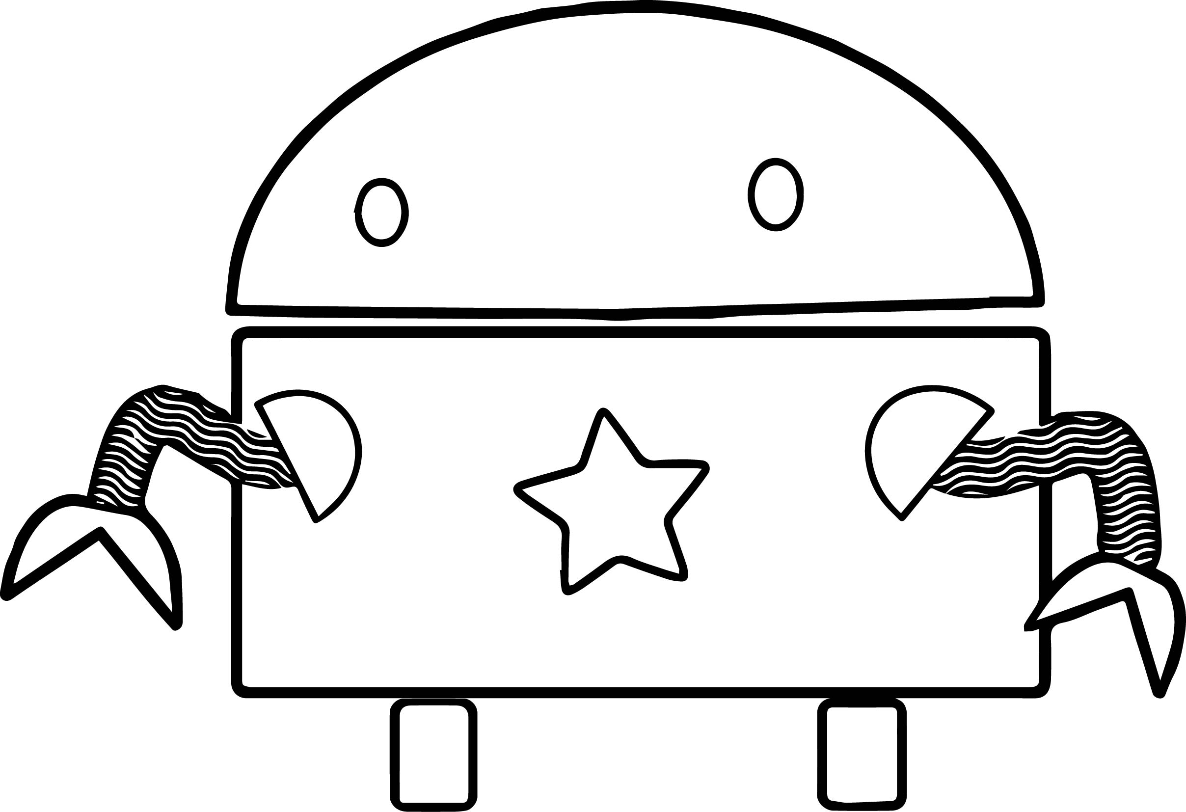 Star Robot Coloring Page