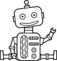 Staying Kid Free Robot Coloring Page