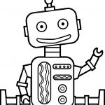 Staying Kid Free Robot Coloring Page