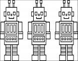 Three Box Robot Coloring Page