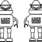 Two Robot Coloring Page