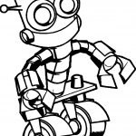 Two Tire Robot Coloring Page