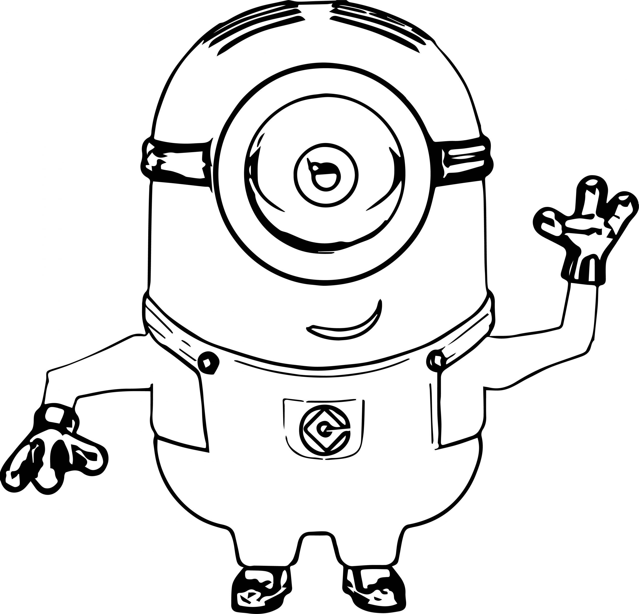 Minion Minions Coloring Page 039