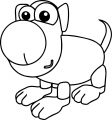 01 dog coloring page 04