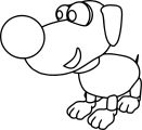 01 dog coloring page 07