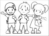 146d Cartoon School Kids Clipart 1024×768 Kids We Coloring Page