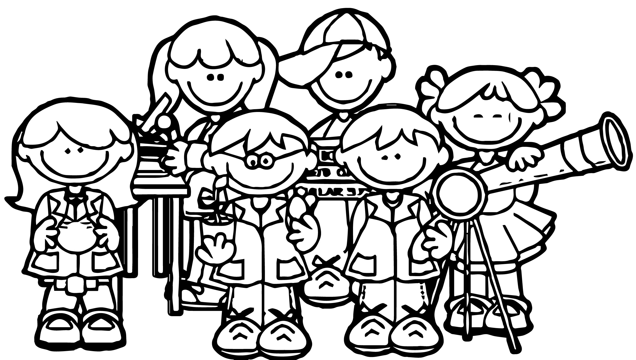 150f9a93c0807b2256978b72a910dccb7e Kids We Coloring Page