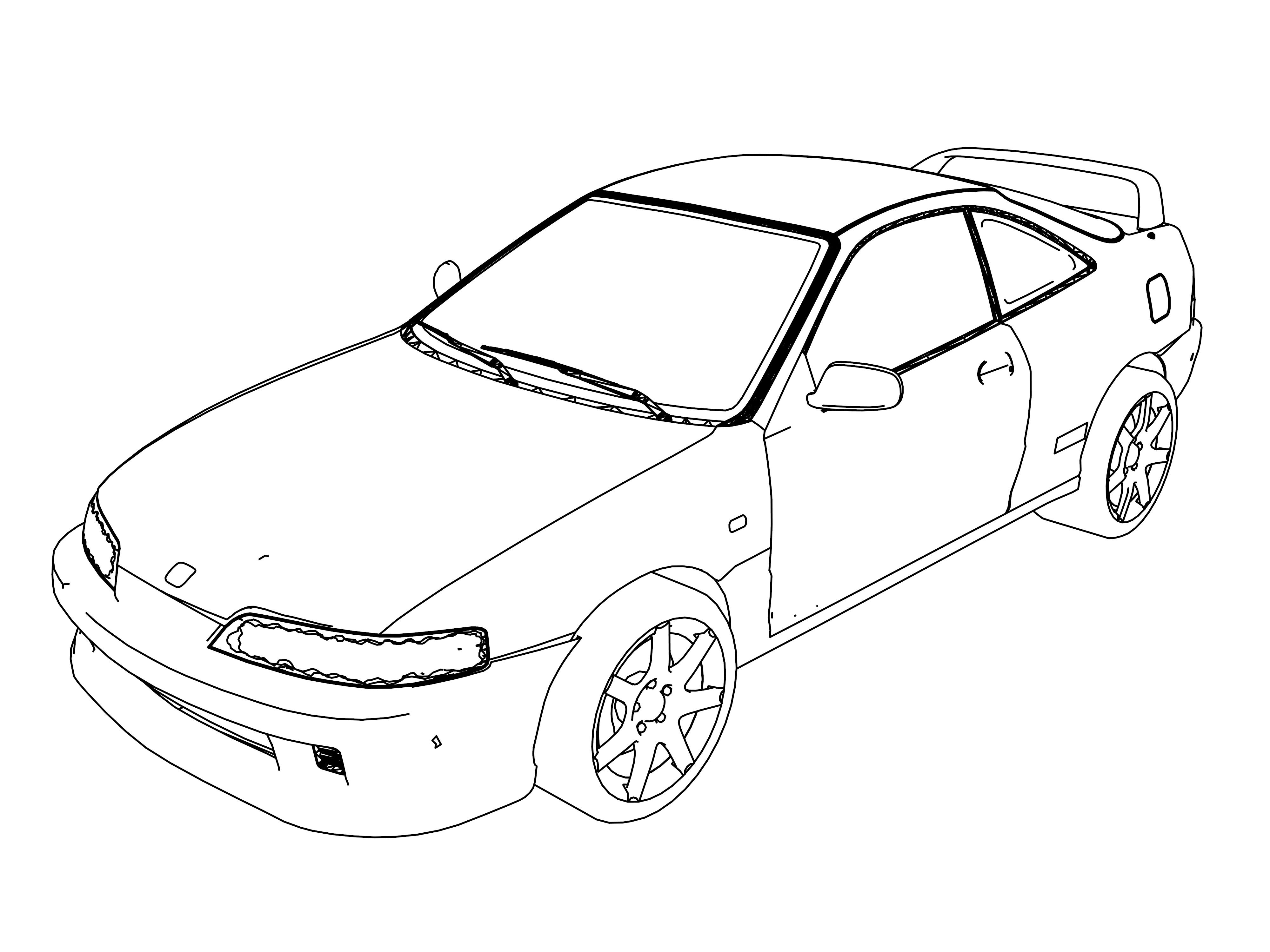 1995 Honda Integra Coloring Page