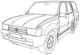 4 Runner Jeep Coloring Page