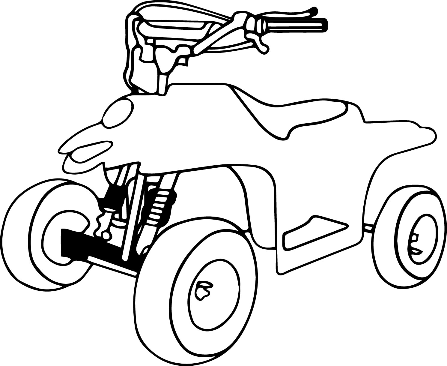 4 Wheeler Coloring Page WeColoringPage 04