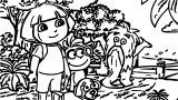 717 Dora Spiky Or Fluffy Coloring Page