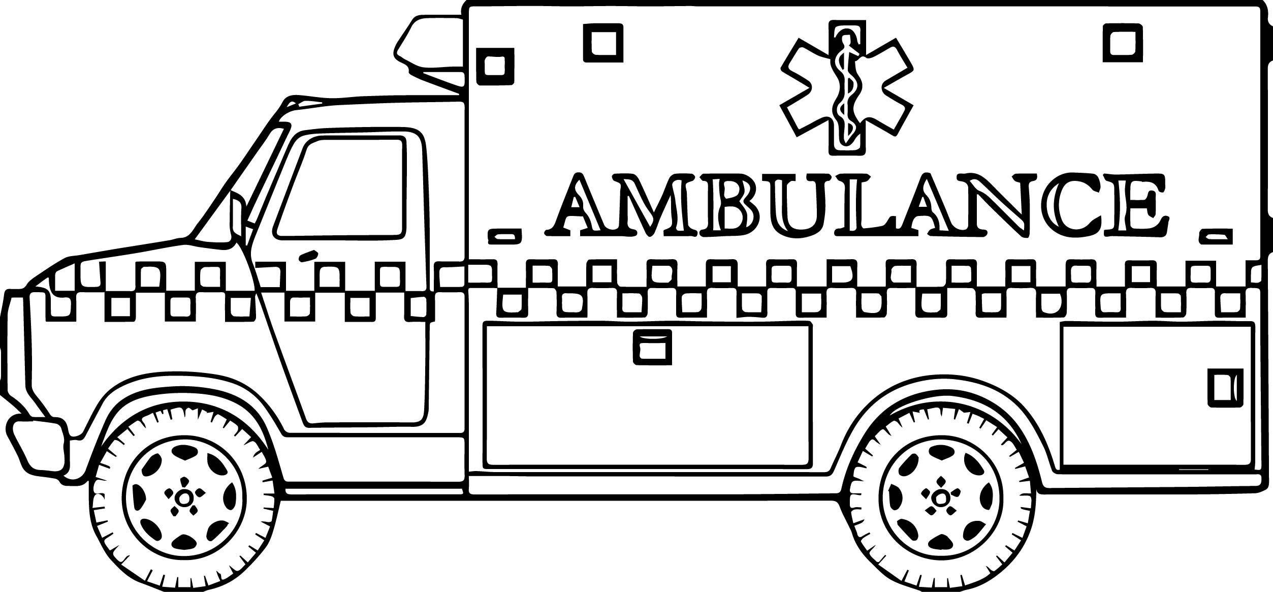 A Ambulance Coloring Page