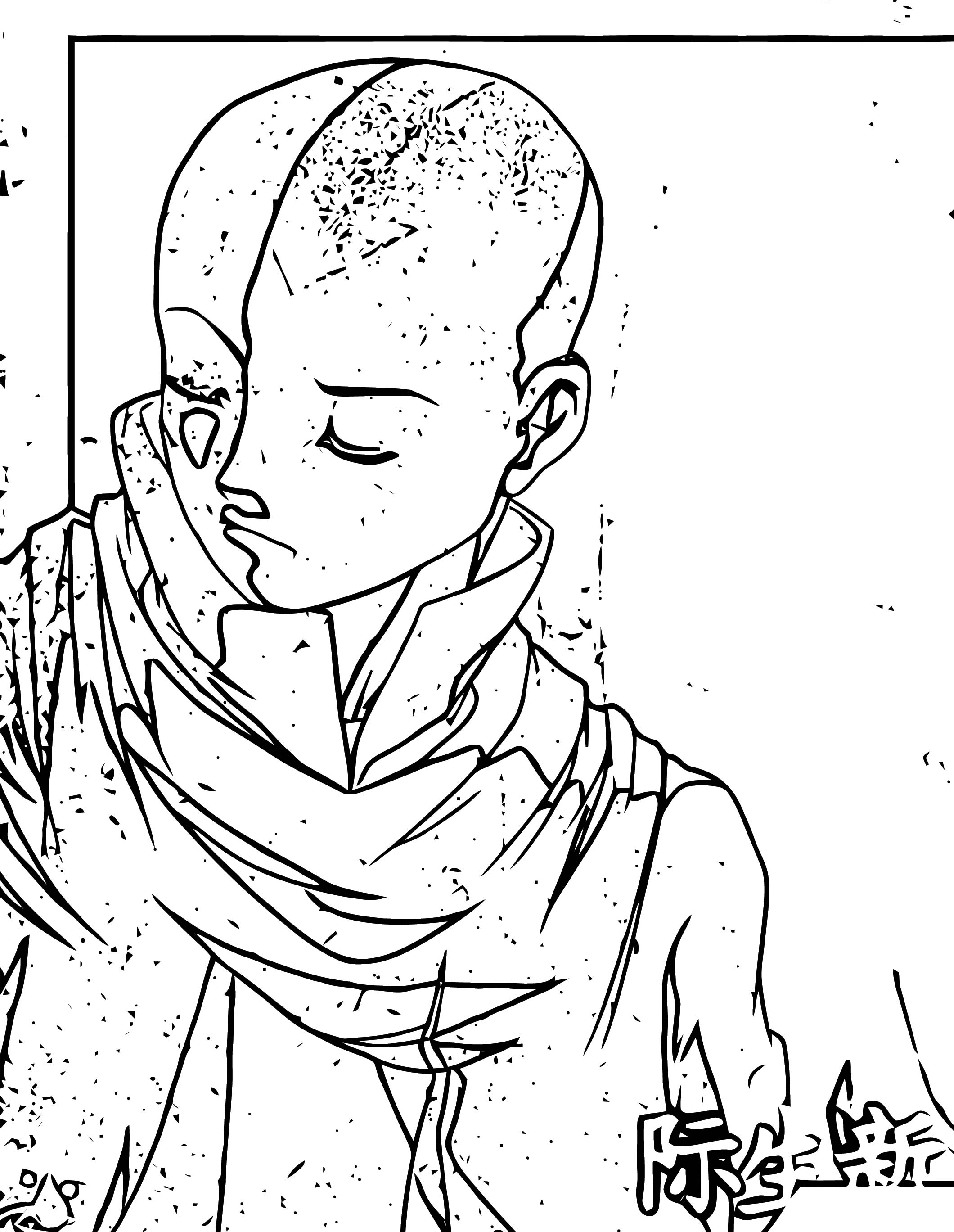 Aang Avatar The Last Airbender Avatar Aang Coloring Page 2141452 2141452