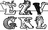 Abc Animal Coloring Page WeColoringPage 10