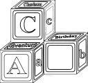 Abc Blocks Design Coloring Page