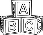 Abc Cube Coloring Page
