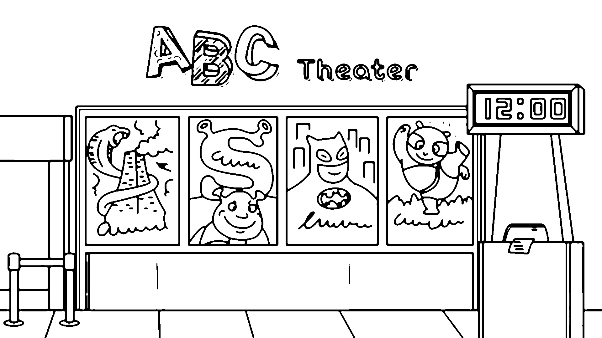 Abc Theater Coloring Page