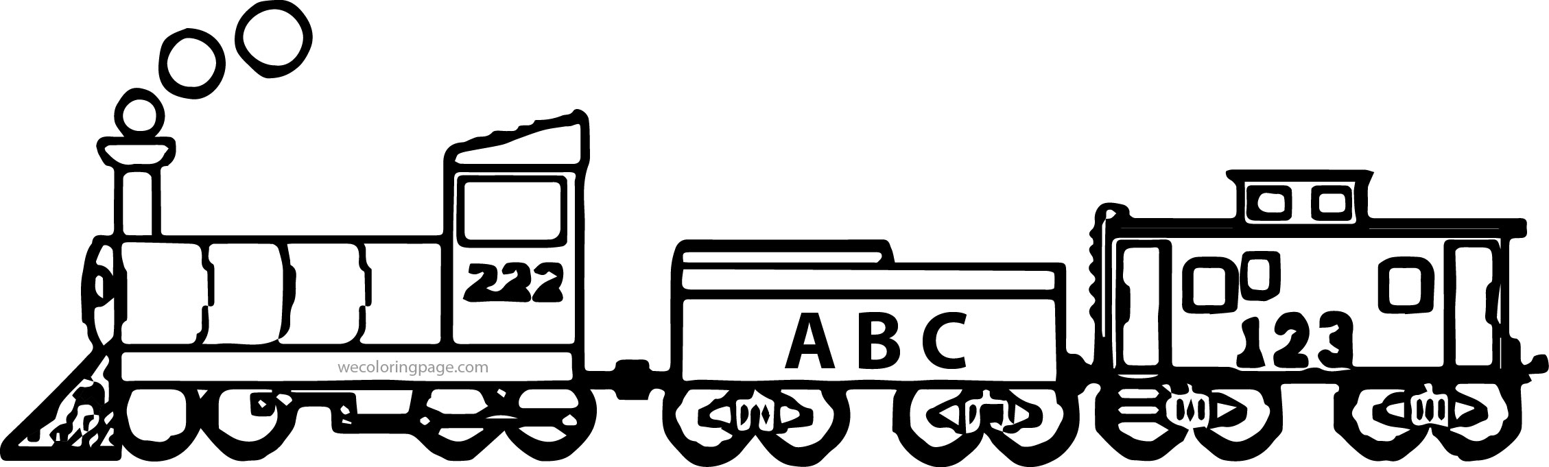 Abc Train Coloring Page