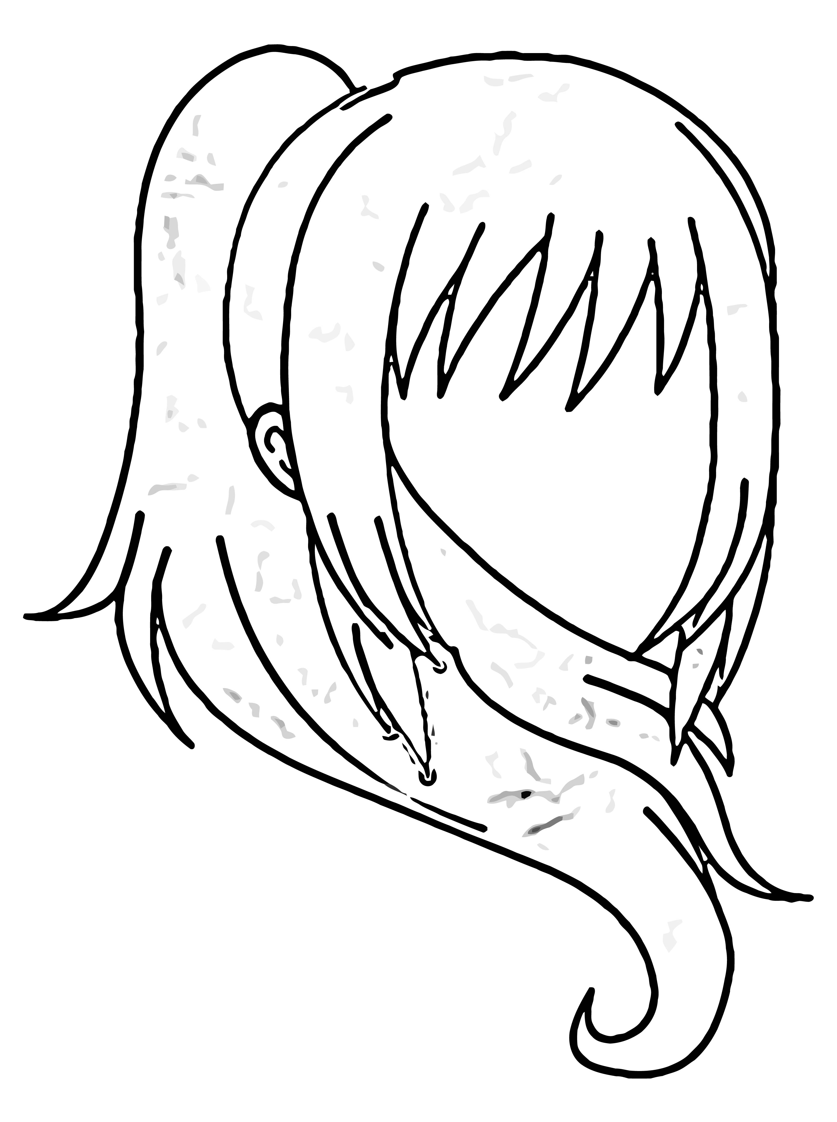 Air cute gacha Life Hair Anime Girl Gacha Coloring Page
