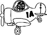 Airplane Pilot 1 A Coloring Page