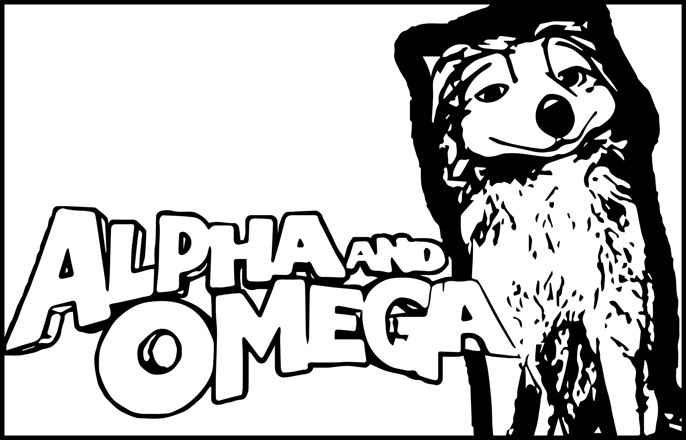 Alpha And Omega Wallpaper Banner Text And Wolf Coloring Page