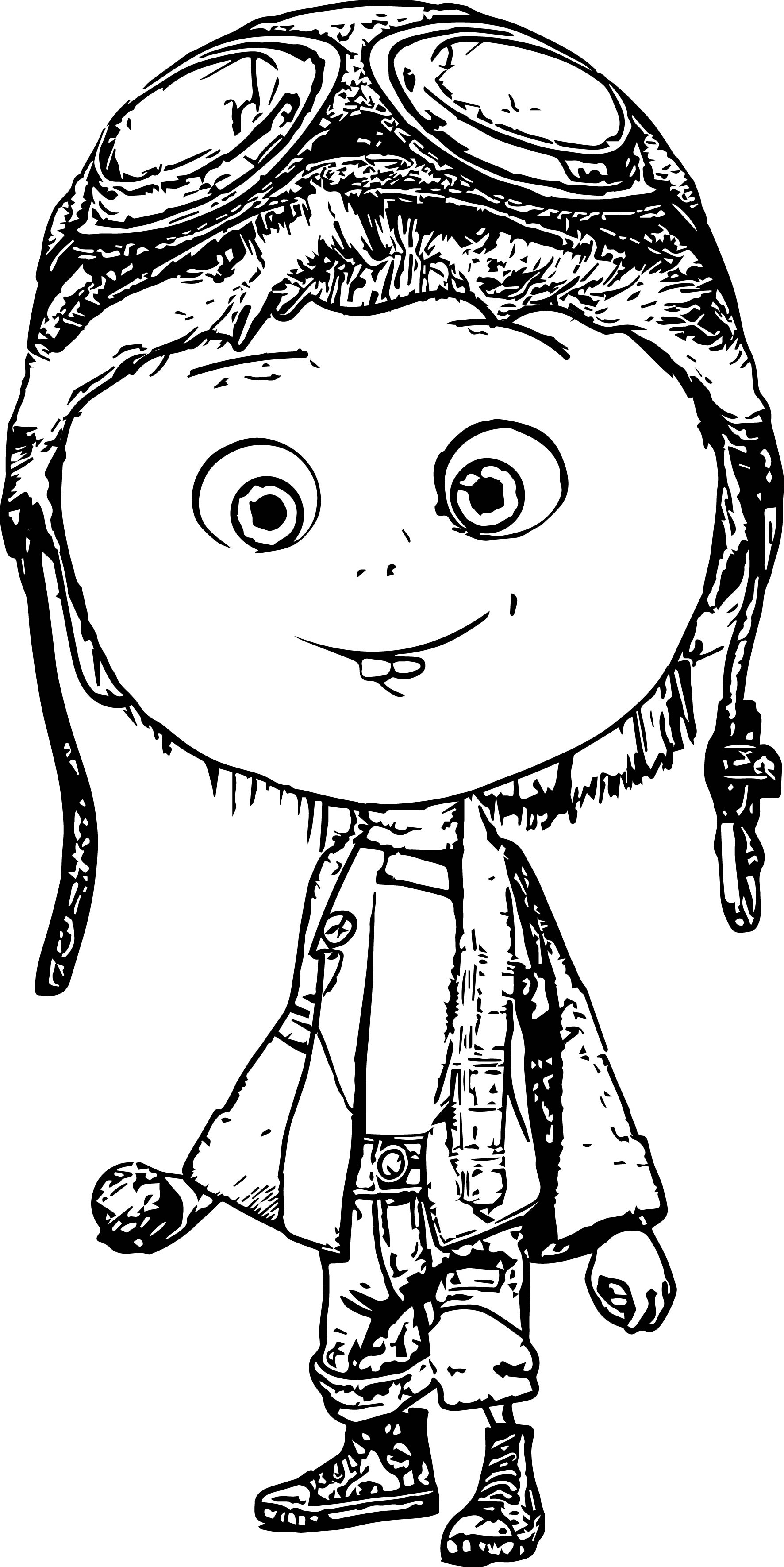 Amazing Child Pilot Sketch Coloring Page