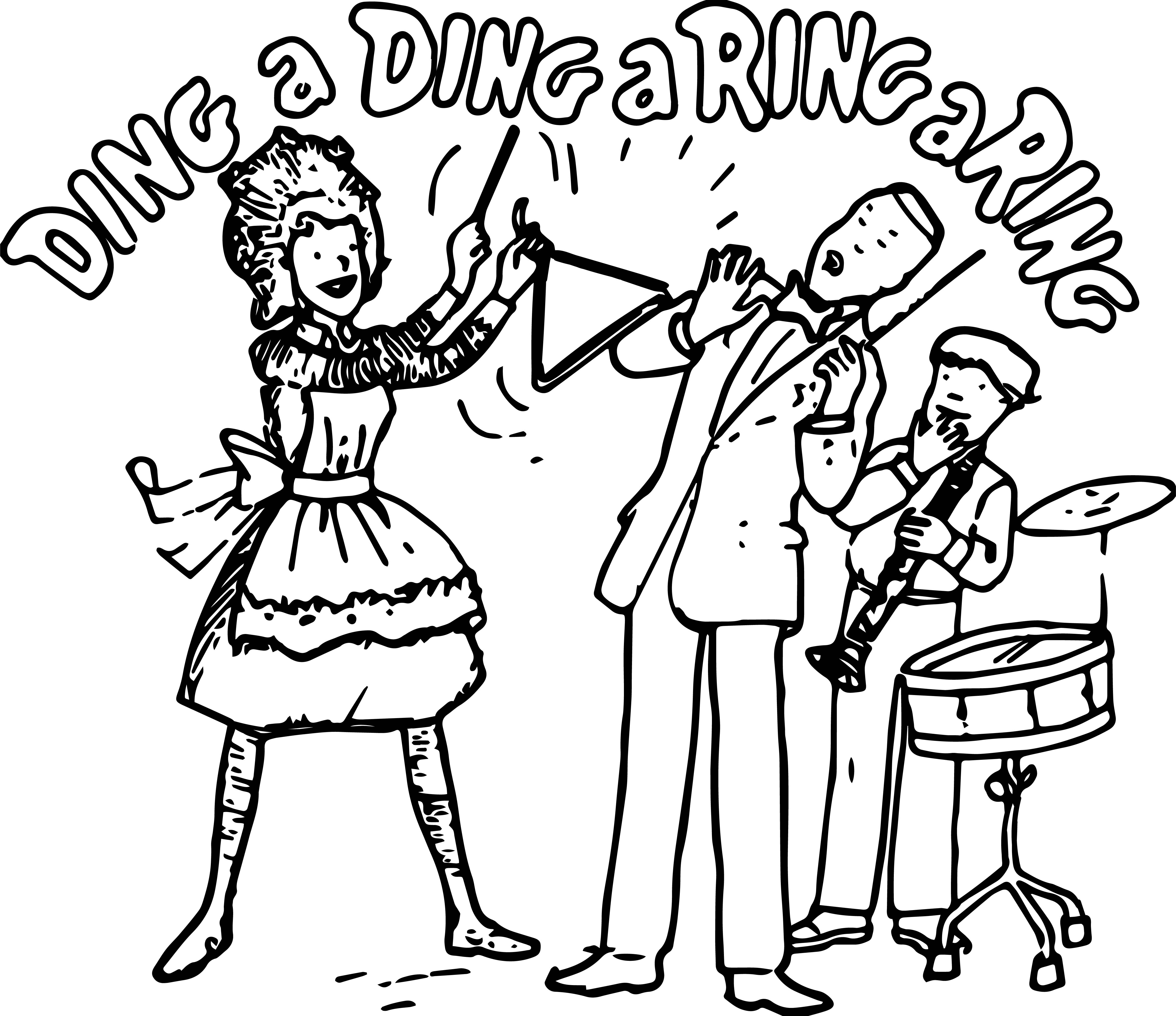 Amelia Bedelia Ding Dong Ring Ring Coloring Page