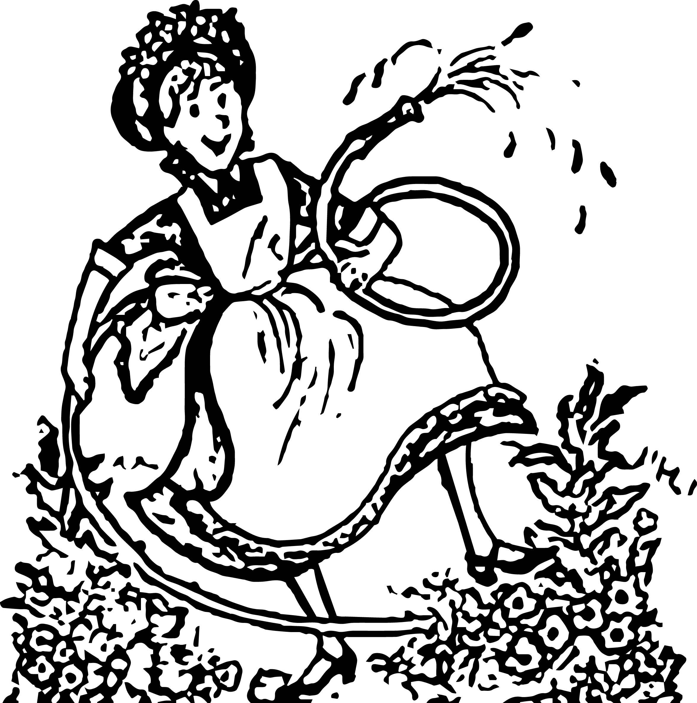 Amelia Bedelia Garden Shower Coloring Page