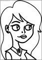 American Dragon Girl Free A4 Printable Coloring Page