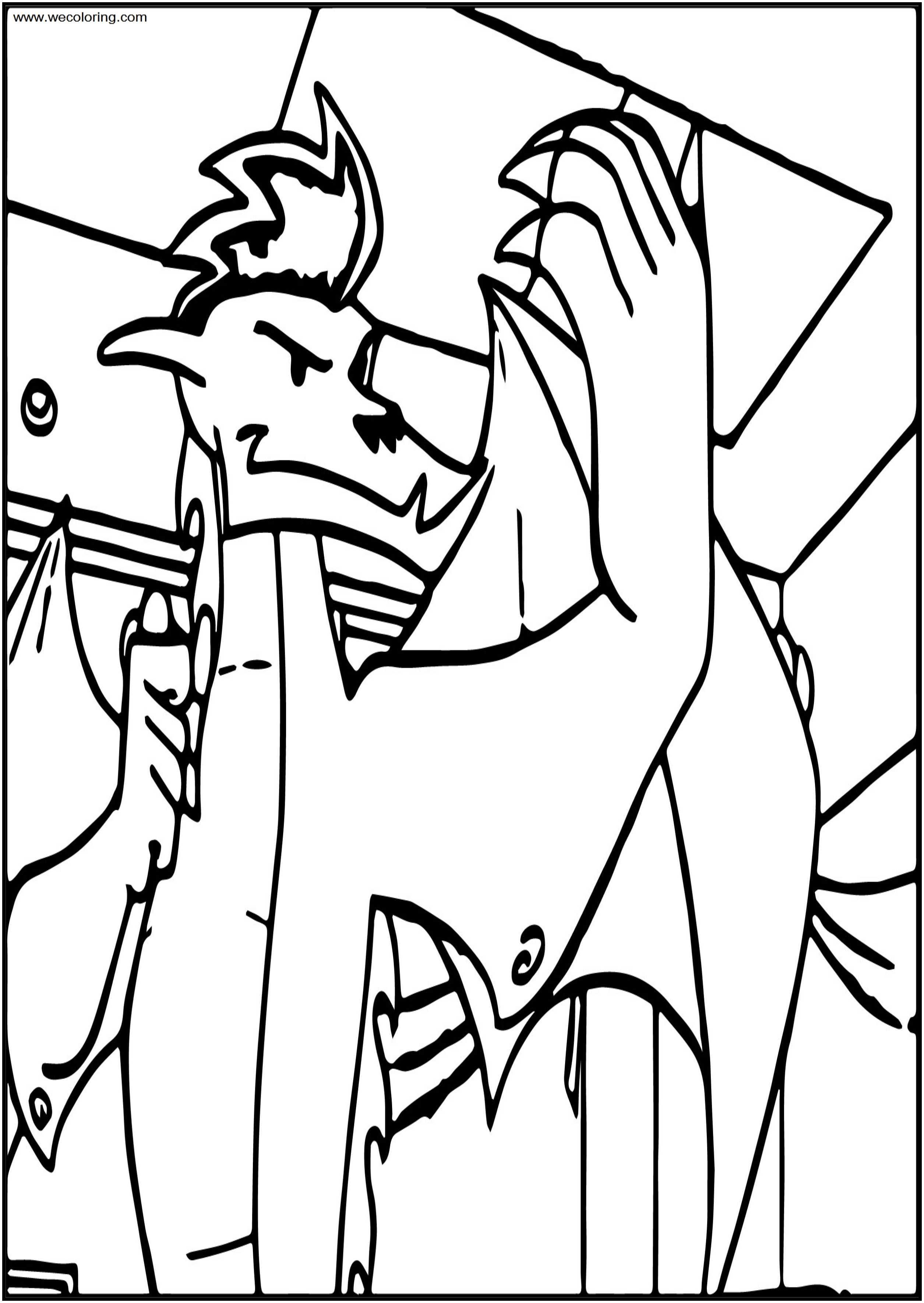 American Dragon Jake Long Come Free A4 Printable Coloring Page